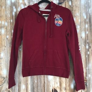Hollister Zip Up Hoodie Size: Large
